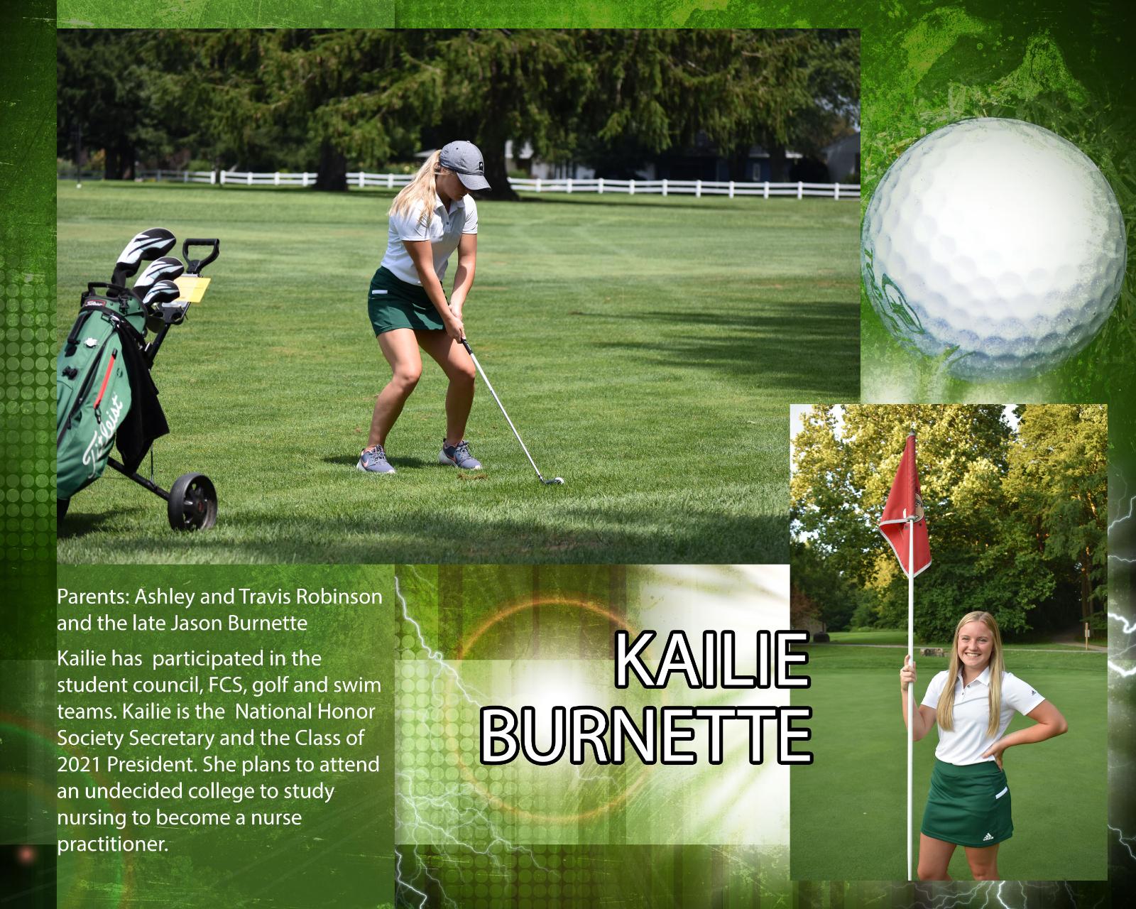 Senior Girls Golfer – Kailie Burnette