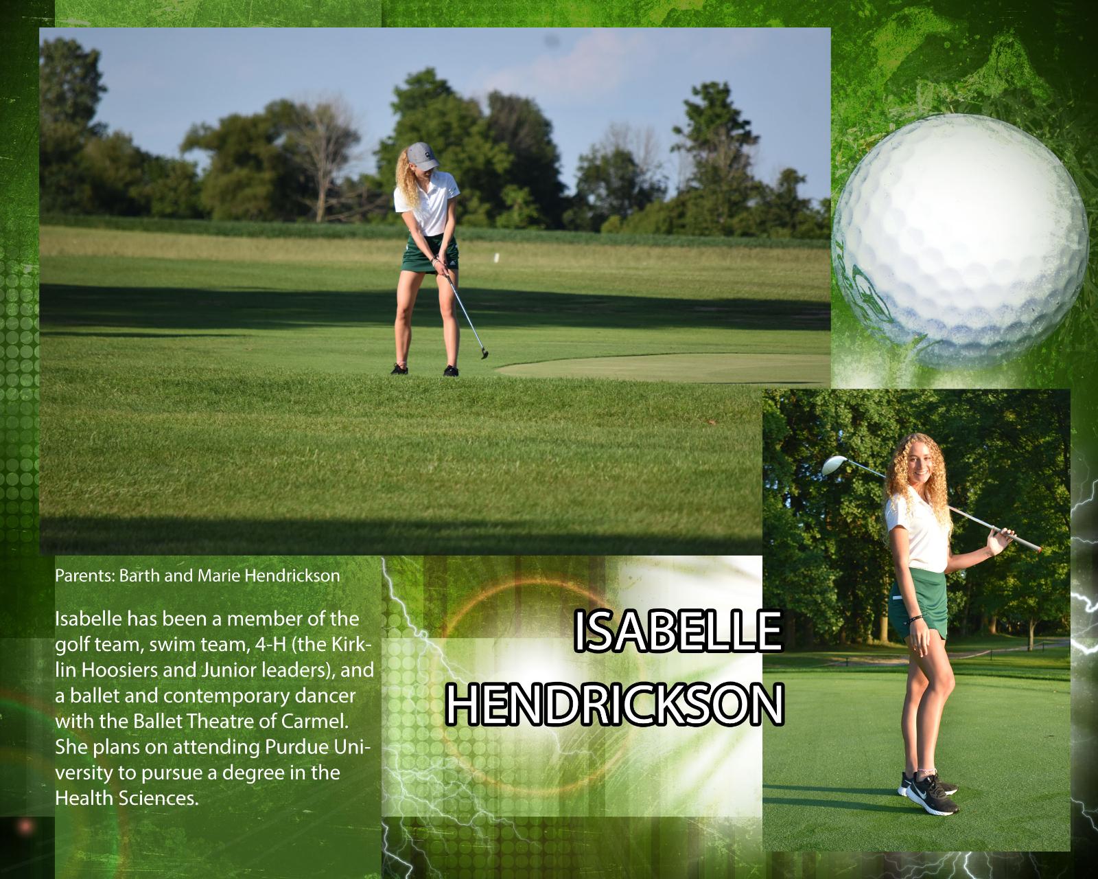 Senior – Girls Golfer – Isabelle Hendrickson