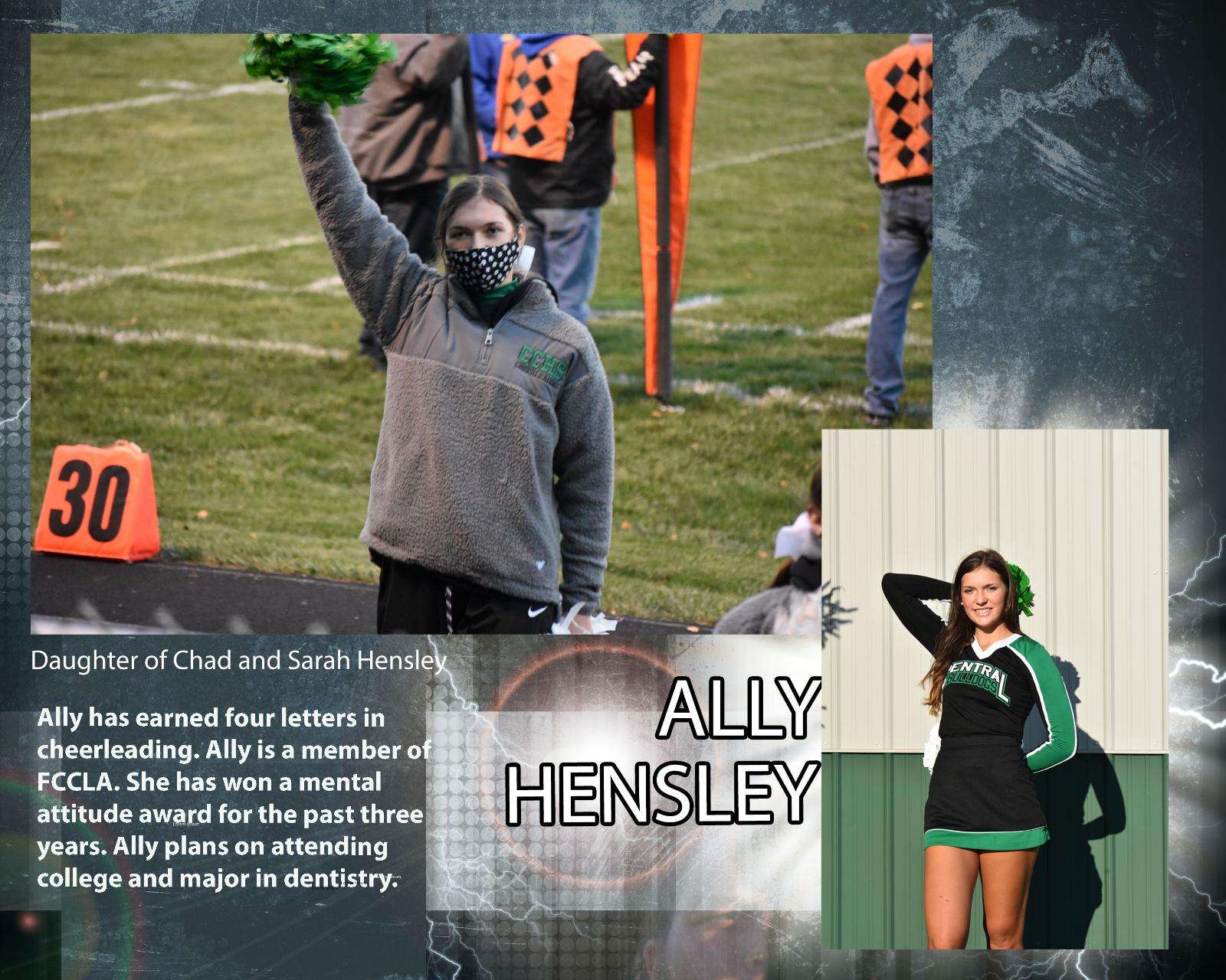 Senior Cheerleader – Ally Hensley
