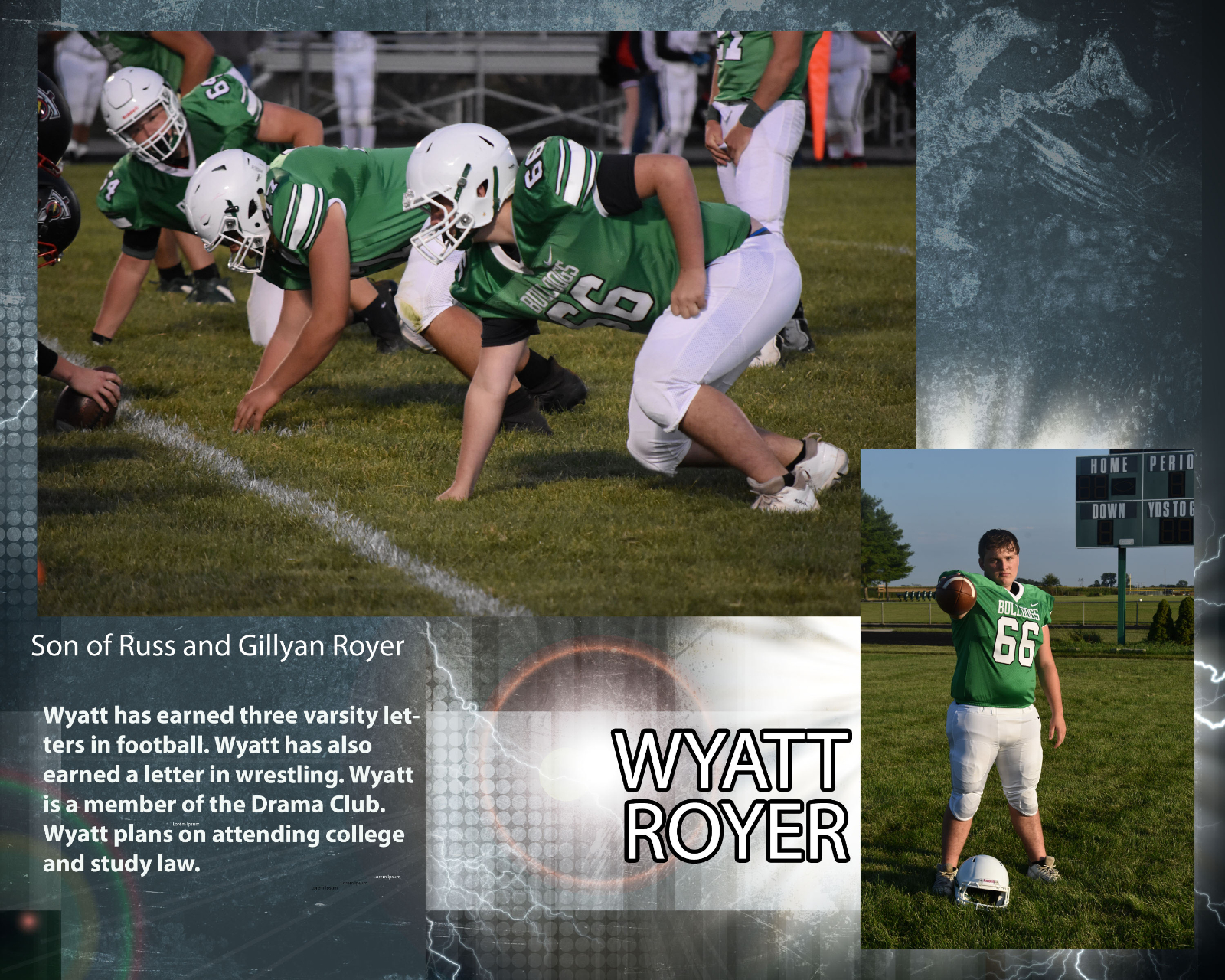 Senior Football Player – Wyatt Royer