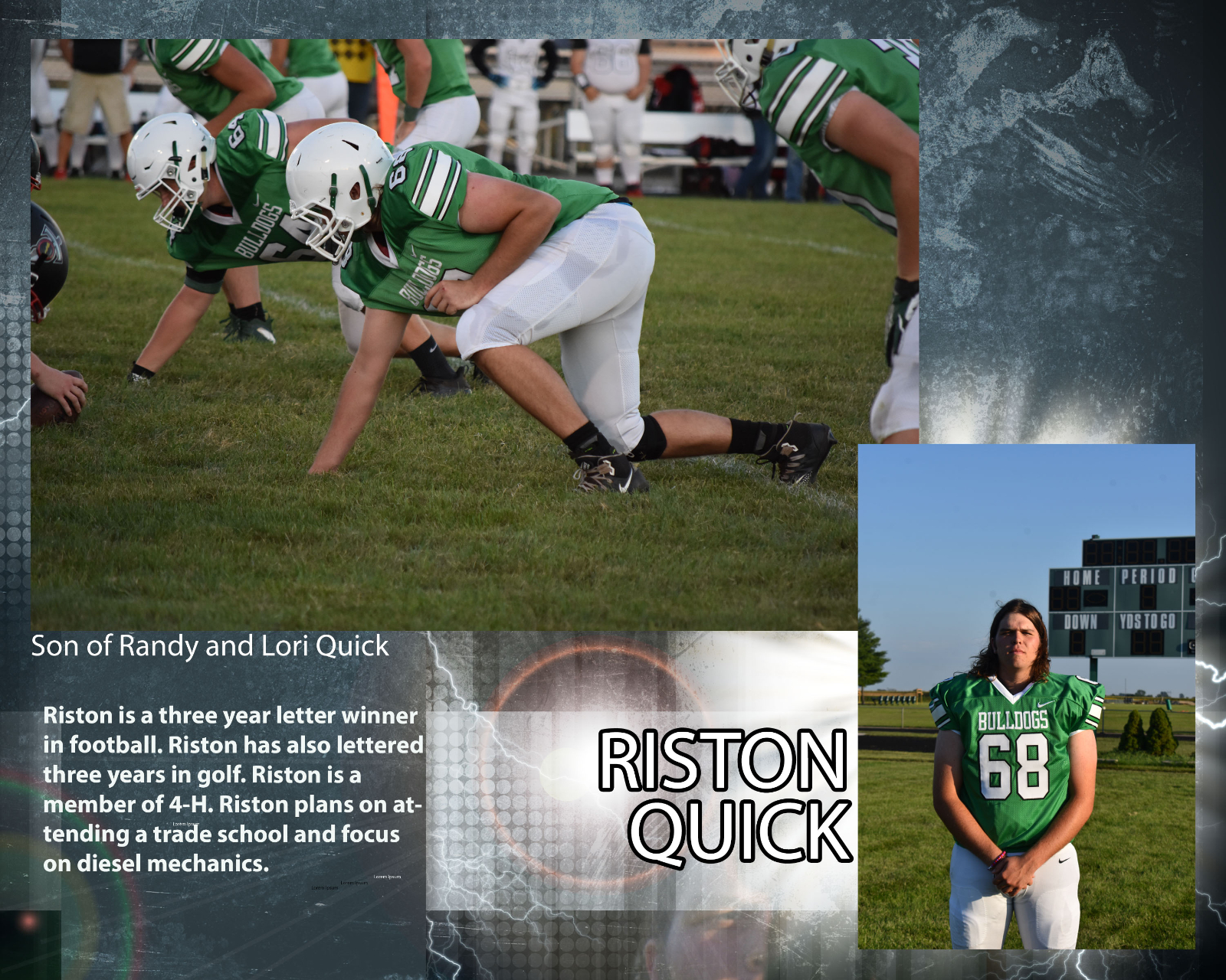 Senior Football Player – Riston Quick