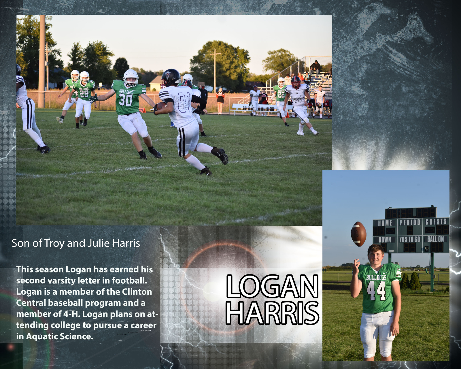 Senior Football Player – Logan Harris
