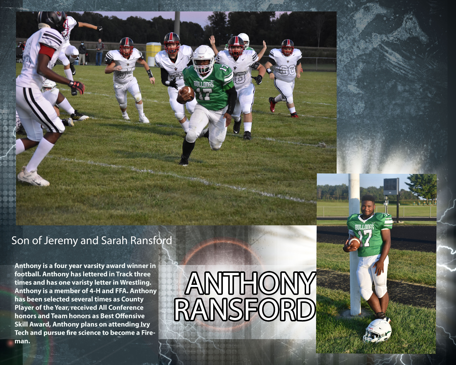 Senior Football Player – Anthony Ransford