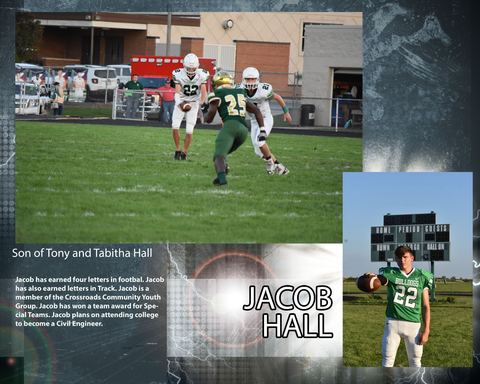 Senior Football Player – Jacob Hall