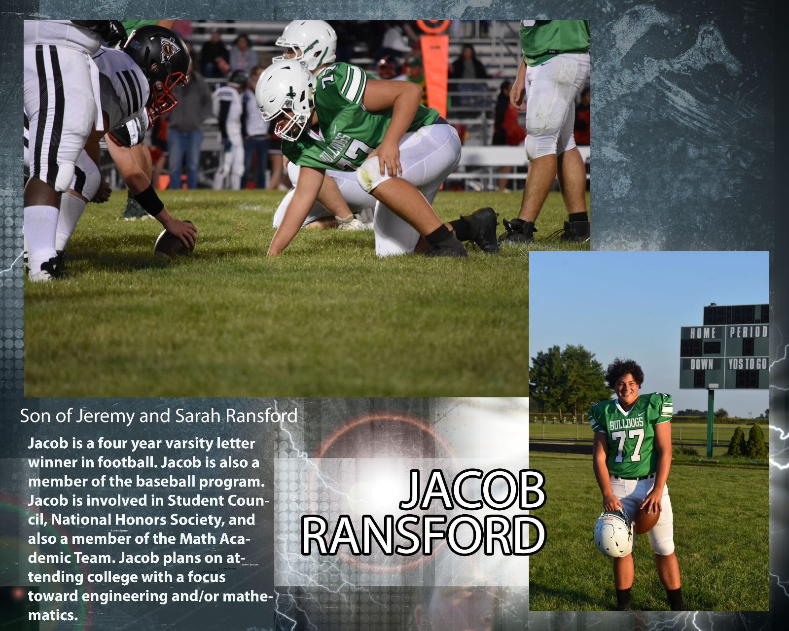 Senior Football Player – Jacob Ransford