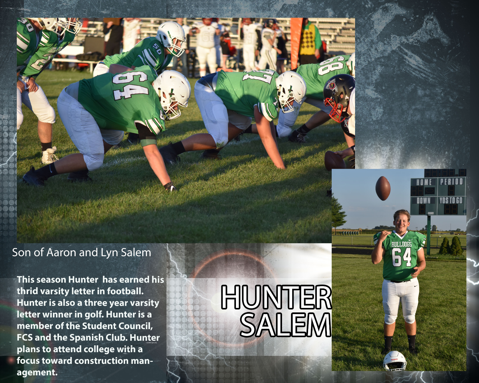 Senior Football Player – Hunter Salem