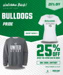 Welcome back 25% off Athletic Gear ON SALE now!