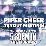 Cheer Team Tryouts!
