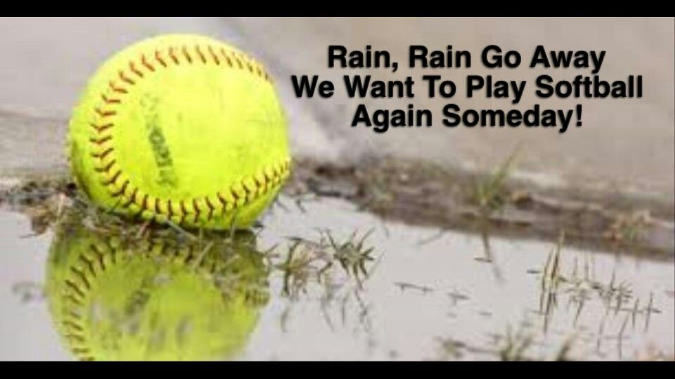 Softball Cancelled for Today 4-8-21