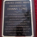 Congratulations, Dianna Long