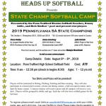 Heads up Softball Camp