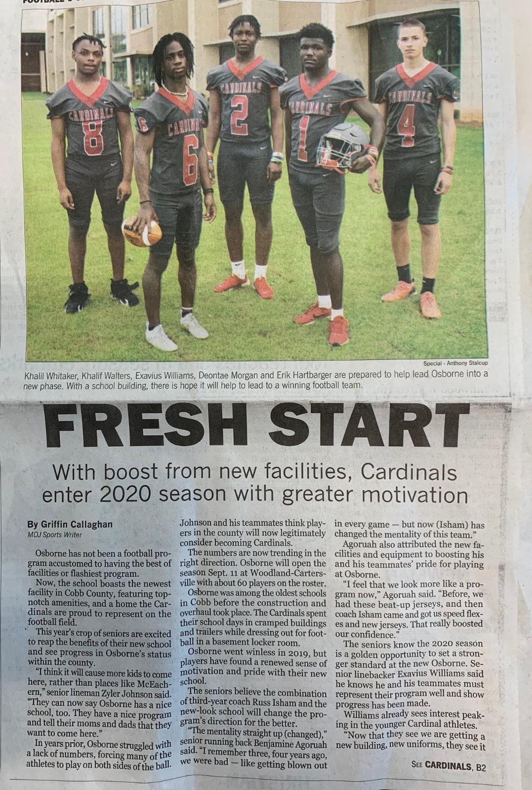 Cardinals Make Front Page