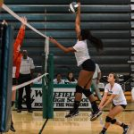 Wakefield High School Girls Varsity Volleyball beat Thomas Jefferson Science & Tech 3-0