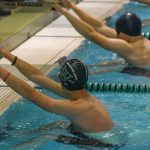 Wakefield Boys Swim team falls to Justice 187 – 113