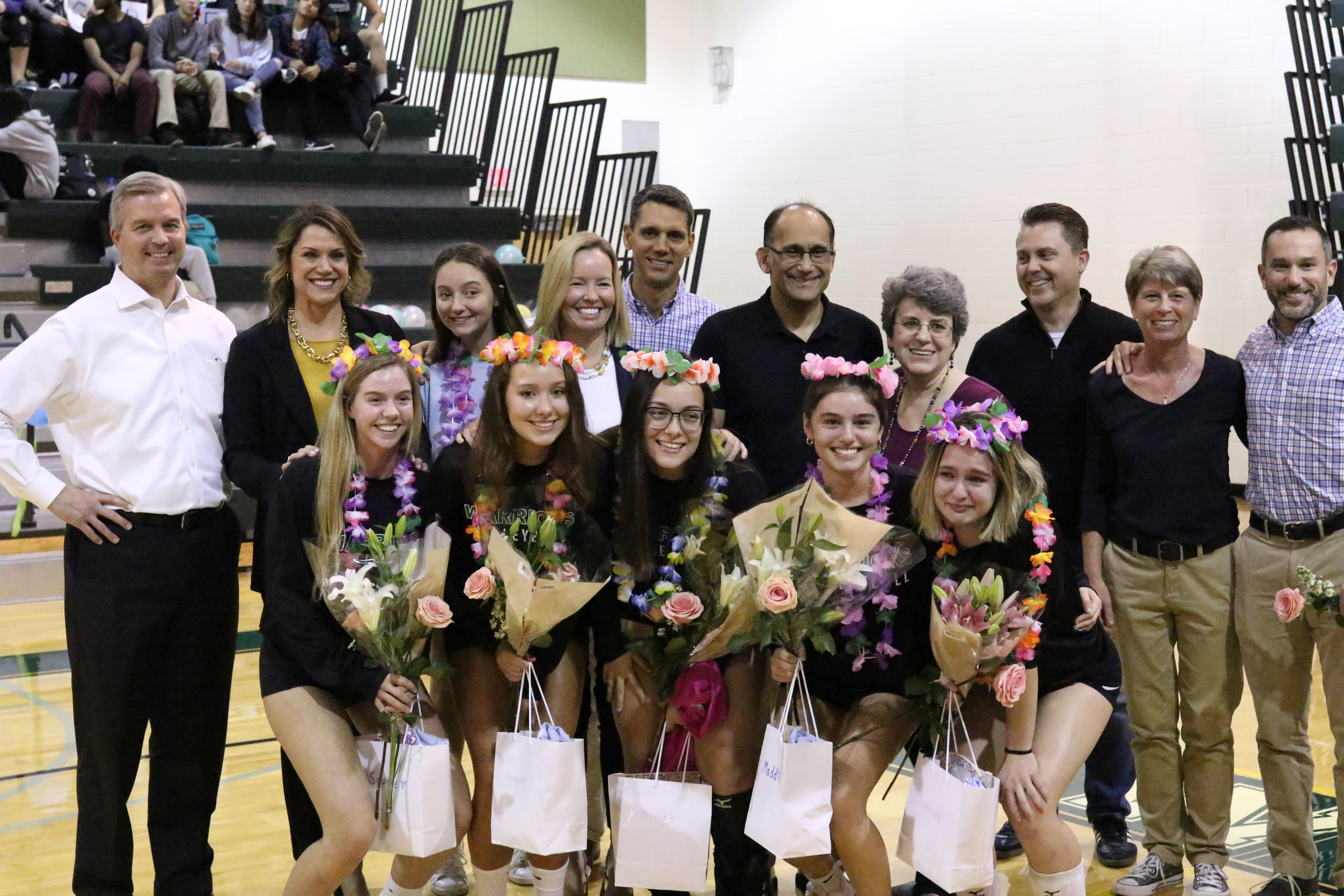 Warriors Volleyball recognizes seniors; drops match to Marshall 3-2