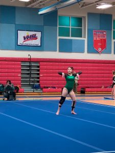 Gymnastics compete at Marshall High School