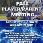 Fall Parent Player Meeting