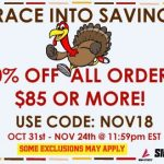 November Holiday Savings for your Sideline Store