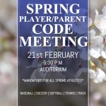 Spring Player/Parent Meeting