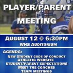 Athletic Parent/Player Meeting