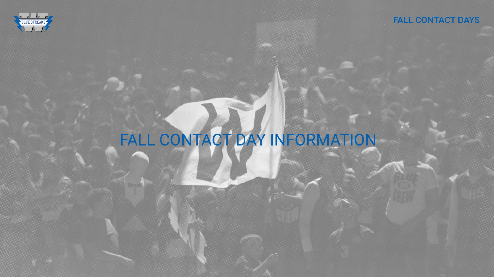Fall Contact Day Information