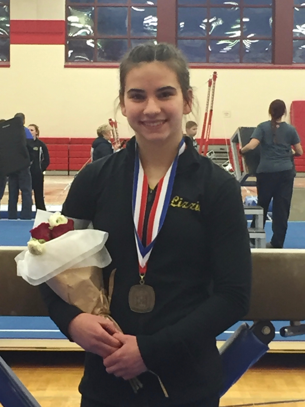Lizzie Orosz Places 3rd on the Beam at the WPIAL Gymnastic Championships