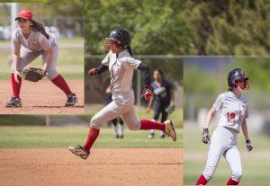 Three softball players.