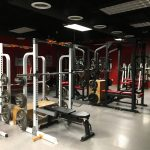 The weight room.