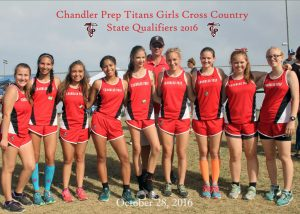 Cross country team smiling.