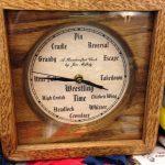 A wrestling clock.