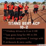 Vilaboy drives in 5 on 3 homeruns for win against ACP 10-2