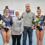 Gymnastics finishes 1st place on Senior Night