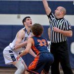 Hudson Boys Basketball Defeats Ellet 59-49