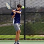 JV Tennis in Action