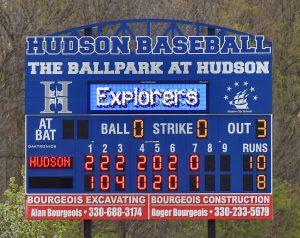 Hudson Baseball Edges Nordonia