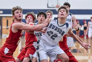 Images From Hudson Boys Basketball's Battle With The Brecksville Bees