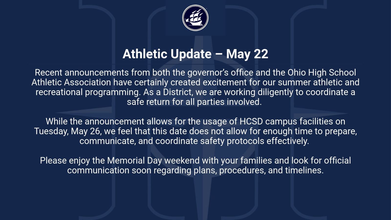 May 22 Announcement