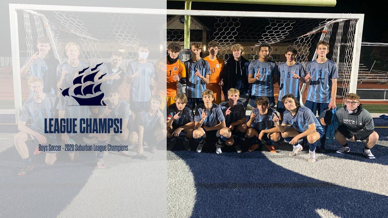 Boys Soccer Earns Suburban League Title!
