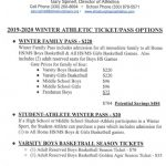 2019 Winter Athletic Ticket/Pass Options – Boys Basketball Reserved Season Tickets
