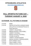 Fall Sports Picture Day – Tuesday August 4