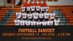 Football Banquet – Sunday November 15th at 6:30 PM