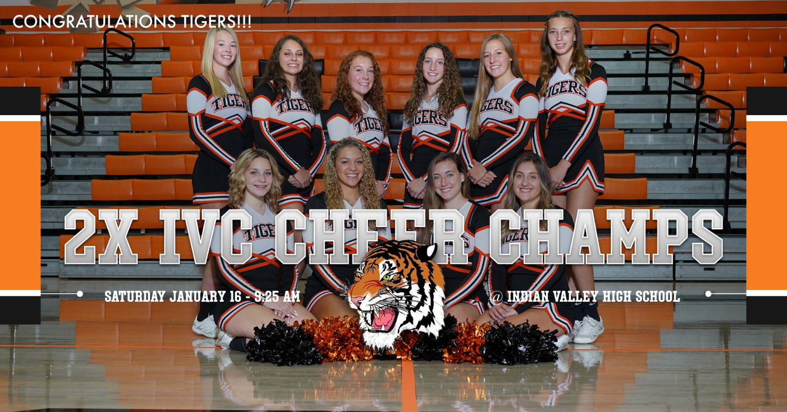 STRASBURG REPEATS AS IVC CHEER CHAMPIONS