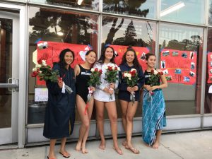 Senior day for girls waterpolo