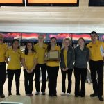 Zeeland East High School/Zeeland West High School Girls Varsity Bowling finishes 1st place