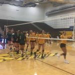 Zeeland West High School Girls Varsity Volleyball falls to Zeeland East High School 2-0