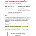 Junior Lifeguard Swim Prep Program