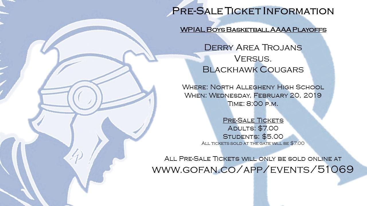 WPIAL Boys Basketball Playoffs Pre-Sale Ticket Information