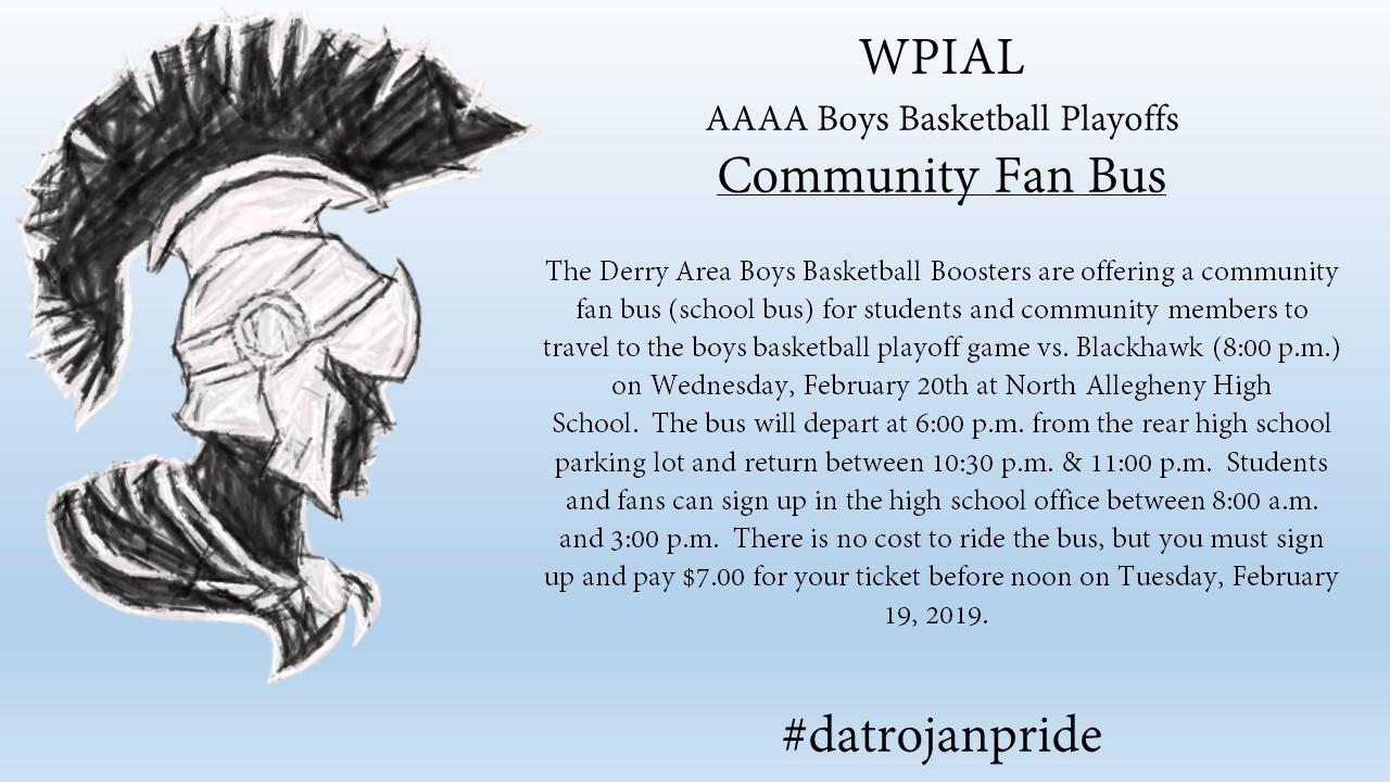 Boys Basketball Community Fan Bus!