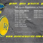 Fall Sports Registration is Now Open!