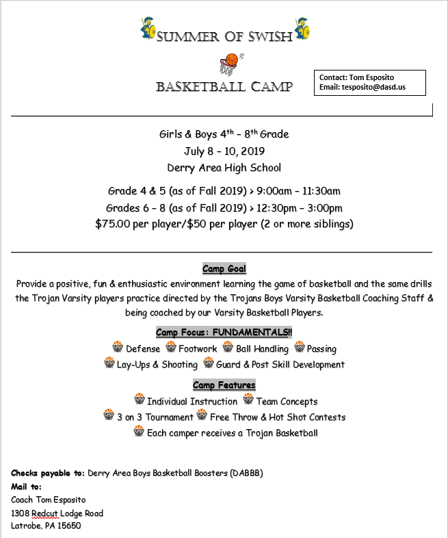 Summer of Swish Basketball Camp